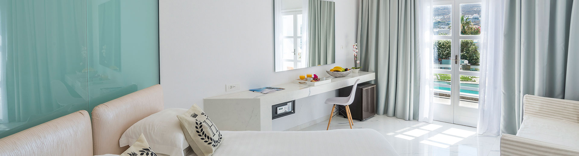 Prestige Junior Suite With Sharing Pool View Rooms In Mykonos | Dionysos 4  Star Hotel